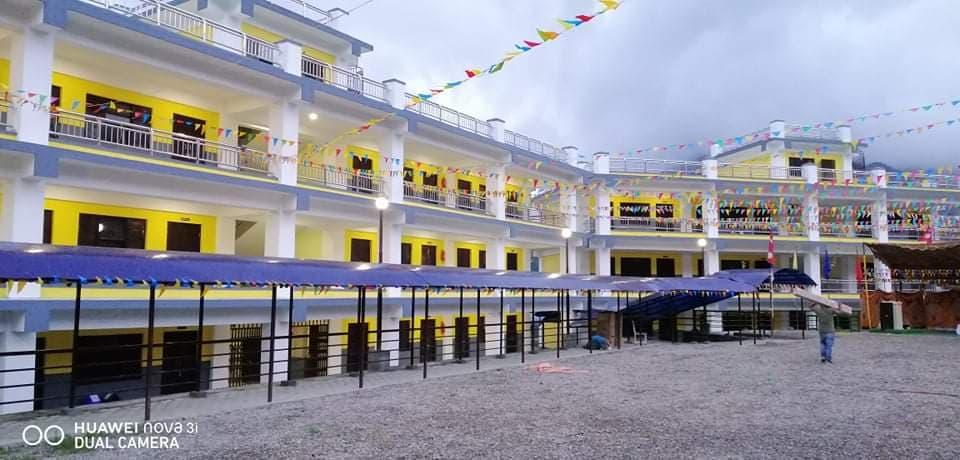 रामेछापको सुनापति गाउँपालिका–२, दिमीपोखरीमा पुनर्निर्मित अग्लेश्वर माध्यमिक विद्यालय