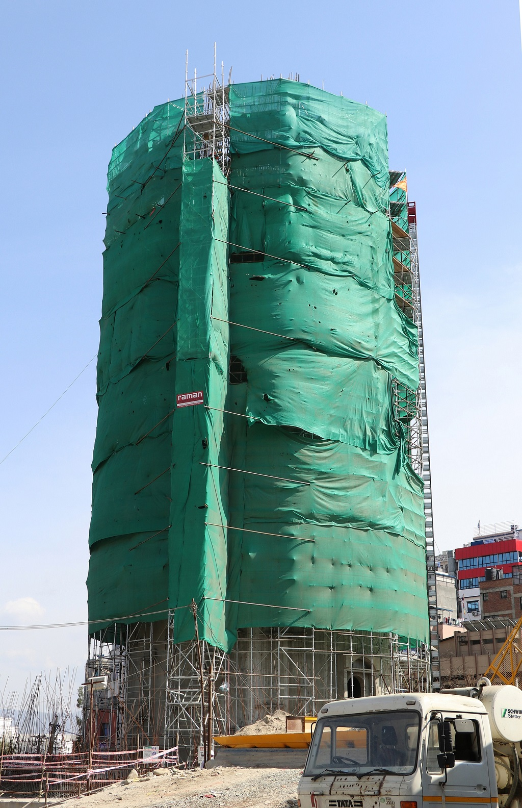 Dharahara, 10th storey ready for concrete