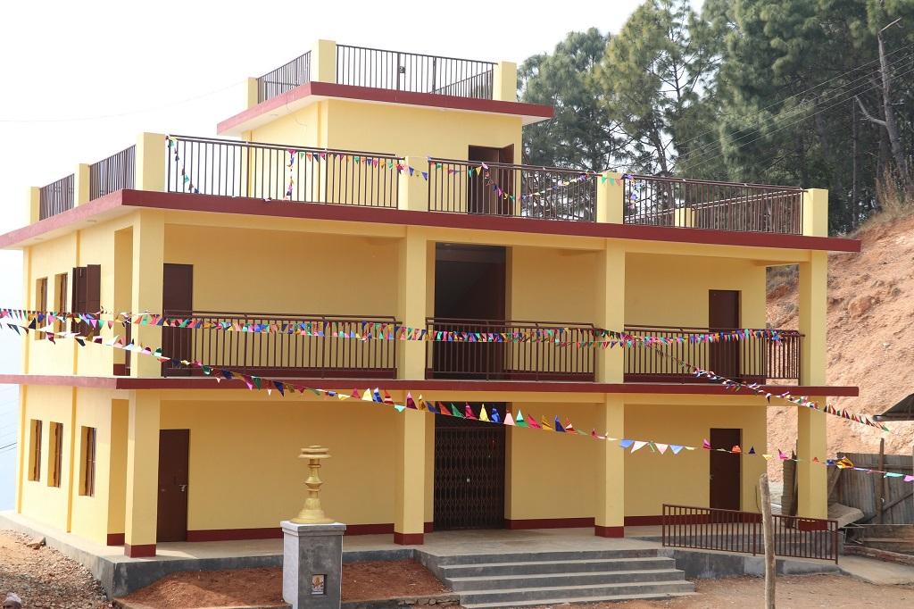 Reconstructed building of Janapriya ma.vi, bartung, palpa