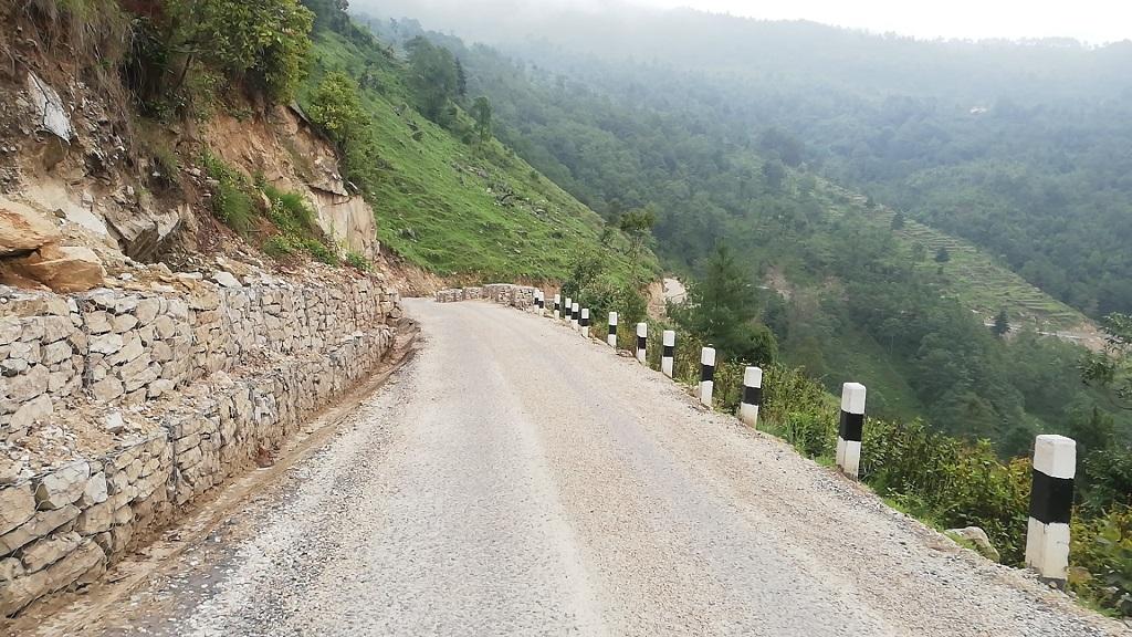 Reconstructed road at Solukhumbu (Garma-Nele-Bogal road)